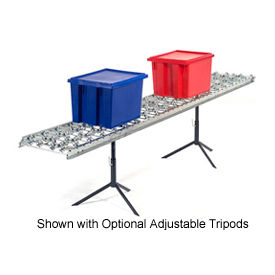 Omni Metalcraft Steel Skate Wheel Conveyor Straight Section WSHS3-12-16-10-LL
