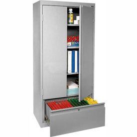 Sandusky System Series Storage Cabinet with File Drawer HADF301864 - 30x18x64, Gray