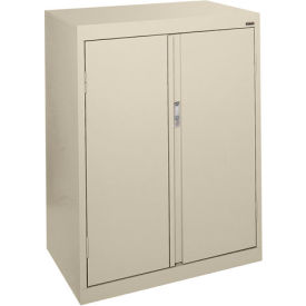 Sandusky System Series Counter Height Storage Cabinet HF2F301842 - 30x18x42, Putty- Pkg Qty 1
