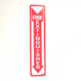 Fire Extinguisher Sign - Vertical - Plastic