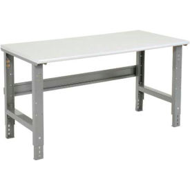 "60""W X 30""D ESD Safety Edge Top Work Bench - Adjustable Height - 1-1/4"" Top - Gray"