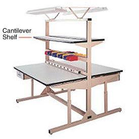 "48""W X 12""D  PLastic Laminate Cantilever Shelf"