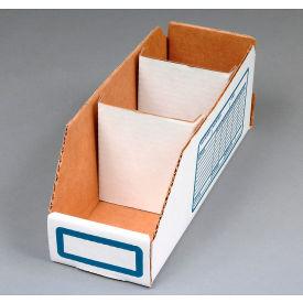"Corrugated Cardboard Divider for Shelf Bin 4""W, White  - Pkg Qty 250"
