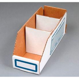 "Corrugated Cardboard Divider for Shelf Bin 6""W, White  - Pkg Qty 250"