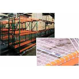 "Husky Rack & Wire 183609643096DS Tear Drop Pallet Rack With Wire Deck - 96""W x 36""D x 96""H"