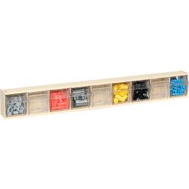 Quantum Tilt Out Storage Bin QTB309- 9 Compartments Ivory