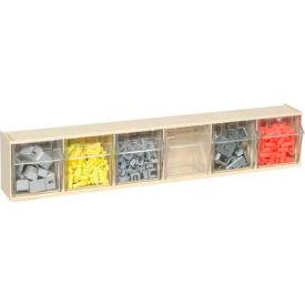 Quantum Tip Out Storage Bin QTB306 - 6 Compartments Ivory