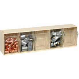 Quantum Tip Out Storage Bin QTB305 - 5 Compartments Ivory
