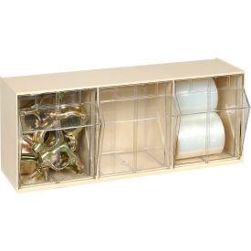 Quantum Tip Out Storage Bin QTB303 - 3 Compartments Ivory