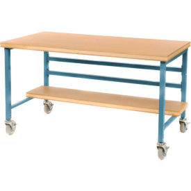 "Mobile 60"" X 30"" Shop Top Workbench - Blue"