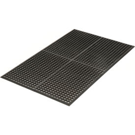 Grease Resistant 3x5 1/2 Thick Drainage Mat Black- Pkg Qty 1