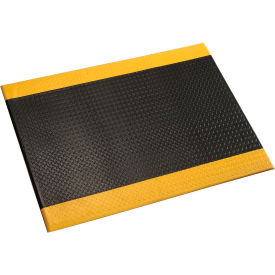 "Diamond Plate Mat, 1/2"" Thick 36""W Full 60Ft, Black/Yellow Border"