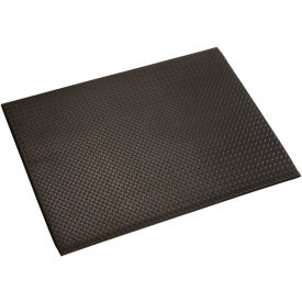 """Diamond Plate Mat, 1/2"""" Thick 48""""W Cut Length 1Ft Up To 60Ft, Black"""