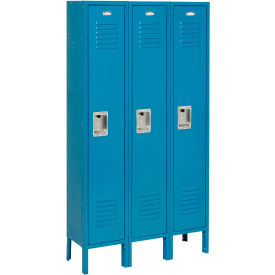 Infinity™ Locker Single Tier 12x12x72 3 Door Ready To Assemble Blue