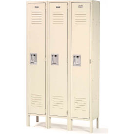 Infinity™ Locker Single Tier 12x12x72 3 Door Ready To Assemble Tan