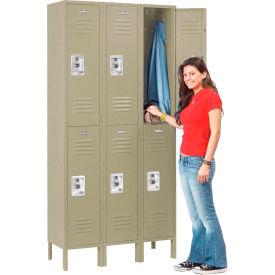 Infinity™ Locker Double Tier 12x18x36 6 Door Ready To Assemble Tan