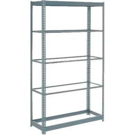 """Heavy Duty Shelving 36""""W x 12""""D x 84""""H With 5 Shelves - No Deck - Gray"""