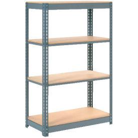 "Heavy Duty Shelving 36""W x 24""D x 60""H With 4 Shelves, Wood Deck"