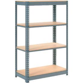 "Heavy Duty Shelving 48""W x 12""D x 60""H With 4 Shelves, Wood Deck"
