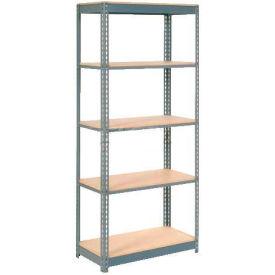 "Heavy Duty Shelving 36""W x 12""D x 96""H With 5 Shelves, Wood Deck"