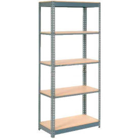 "Heavy Duty Shelving 36""W x 18""D x 96""H With 5 Shelves, Wood Deck"