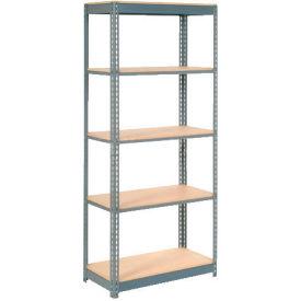 "Heavy Duty Shelving 36""W x 24""D x 84""H With 5 Shelves, Wood Deck"