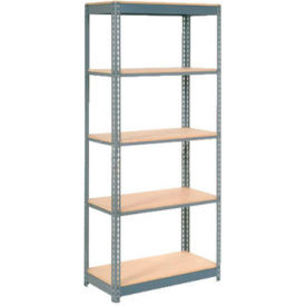 "Heavy Duty Shelving 48""W x 12""D x 84""H With 5 Shelves, Wood Deck"