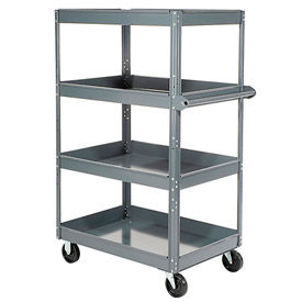 Edsal ST9000 Multi-Level Steel Shelf Truck with 4 Shelves