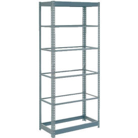 "Heavy Duty Shelving 36""W x 18""D x 60""H With 6 Shelves, No Deck"