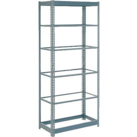 """Heavy Duty Shelving 48""""W x 18""""D x 60""""H With 6 Shelves - No Deck - Gray"""