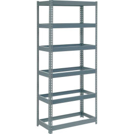 """Extra Heavy Duty Shelving 36""""W x 24""""D x 60""""H With 6 Shelves, No Deck"""