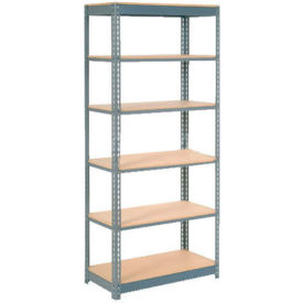 "Heavy Duty Shelving 36""W x 24""D x 60""H With 6 Shelves, Wood Deck"