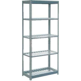 "Heavy Duty Shelving 36""W x 12""D x 60""H With 5 Shelves - Wire Deck - Gray"
