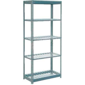 """Heavy Duty Shelving 36""""W x 24""""D x 60""""H With 5 Shelves, Wire Deck"""