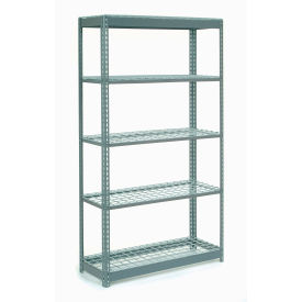 """Heavy Duty Shelving 48""""W x 24""""D x 60""""H With 5 Shelves, Wire Deck"""