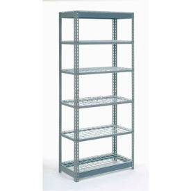 """Heavy Duty Shelving 36""""W x 12""""D x 60""""H With 6 Shelves, Wire Deck"""