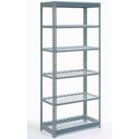 """Heavy Duty Shelving 36""""W x 24""""D x 60""""H With 6 Shelves, Wire Deck"""