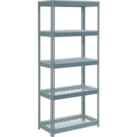 """Extra Heavy Duty Shelving 36""""W x 12""""D x 60""""H With 5 Shelves, Wire Deck"""