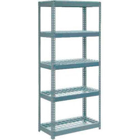 """Extra Heavy Duty Shelving 36""""W x 24""""D x 60""""H With 5 Shelves, Wire Deck"""
