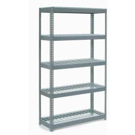 """Extra Heavy Duty Shelving 48""""W x 24""""D x 60""""H With 5 Shelves, Wire Deck"""