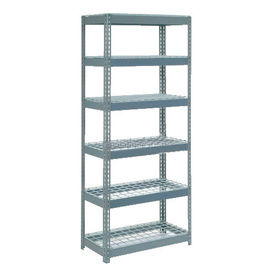 """Extra Heavy Duty Shelving 36""""W x 12""""D x 60""""H With 6 Shelves, Wire Deck"""