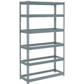 """Extra Heavy Duty Shelving 48""""W x 12""""D x 84""""H With 6 Shelves, No Deck"""
