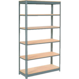 "Heavy Duty Shelving 48""W x 12""D x 84""H With 6 Shelves, Wood Deck"