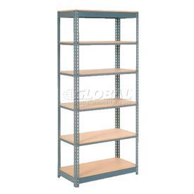 "Heavy Duty Shelving 48""W x 24""D x 84""H With 6 Shelves, Wood Deck"