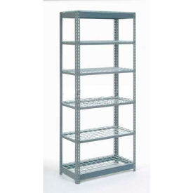 """Heavy Duty Shelving 36""""W x 12""""D x 84""""H With 6 Shelves, Wire Deck"""