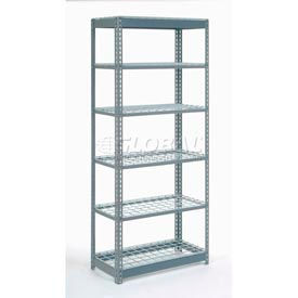 "Heavy Duty Shelving 36""W x 24""D x 84""H With 6 Shelves, Wire Deck"