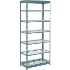 """Heavy Duty Shelving 36""""W x 12""""D x 84""""H With 7 Shelves, Wire Deck"""