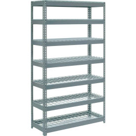 """Extra Heavy Duty Shelving 48""""W x 18""""D x 84""""H With 7 Shelves, Wire Deck"""
