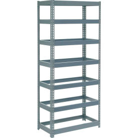 """Extra Heavy Duty Shelving 36""""W x 12""""D x 96""""H With 7 Shelves, No Deck"""