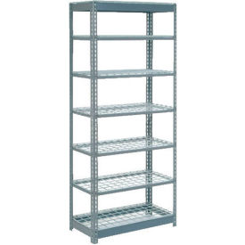 """Heavy Duty Shelving 36""""W x 24""""D x 96""""H With 7 Shelves, Wire Deck"""